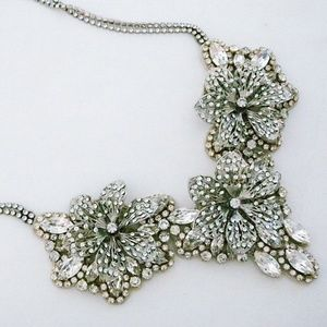Haute Bride Crystal Statement Necklace, New